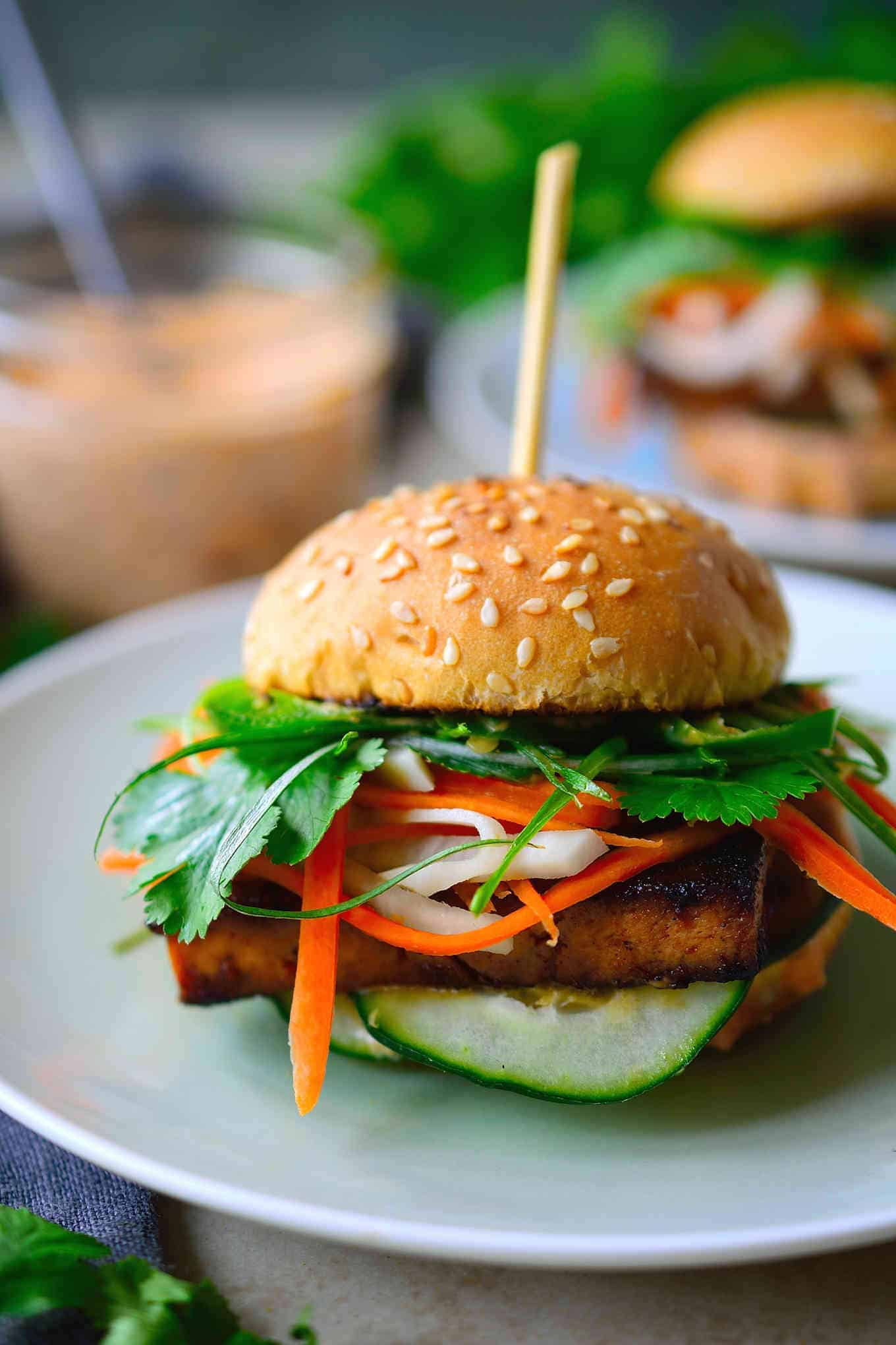These tofu banh mi vegan sliders are packed with flavour and a fun twist on the classic banh mi sandwich. They're great as finger food or appetizers for a party, or as a delicious dinner served with fries or a salad.