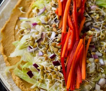 This sprouted lentil vegan hummus wrap is easy to make and packed with vitamins and minerals.