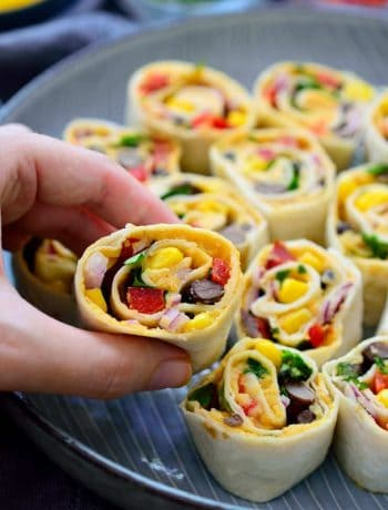These Mexican tortilla roll ups are vegan and make a great easy snack or appetizer. They're super quick to make and perfect to throw together before having guests over.