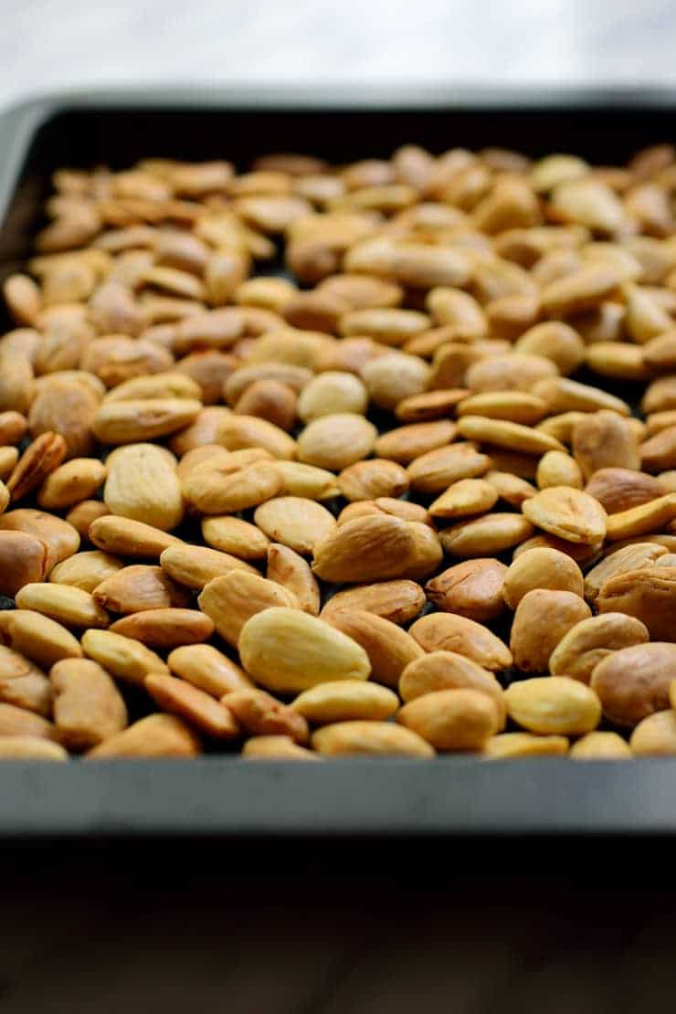 Roasted almonds for pumpkin spice almond butter