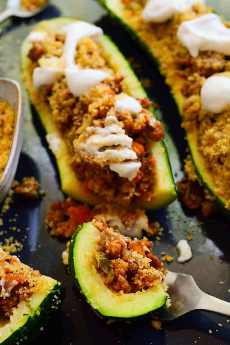 Vegan Stuffed Zucchini The Stingy Vegan