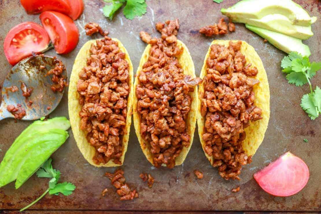 TVP stuffed tacos